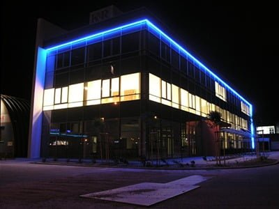 Konrad Blue LED Building