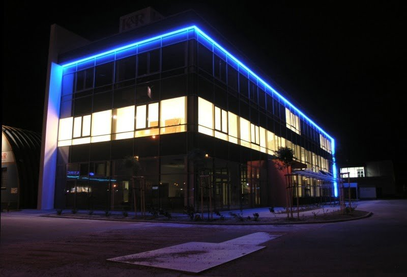 The First Installation Of Led Lighting On Building