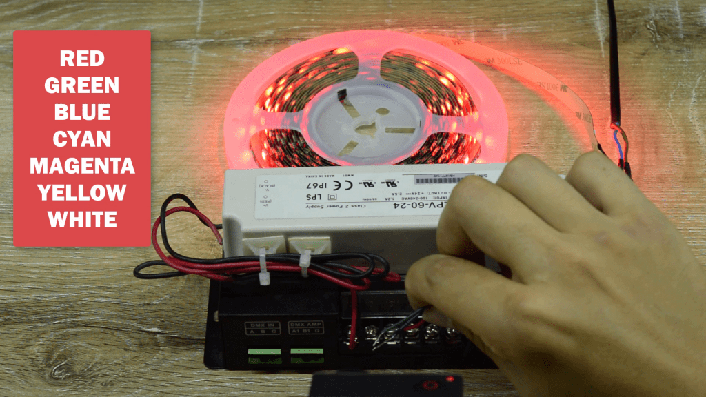 Connecting by hand wires to source to get sever different colors to control analog LED strip
