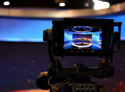 camera display preview of tv markiza studio