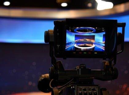 camera display preview of tv markiza studio