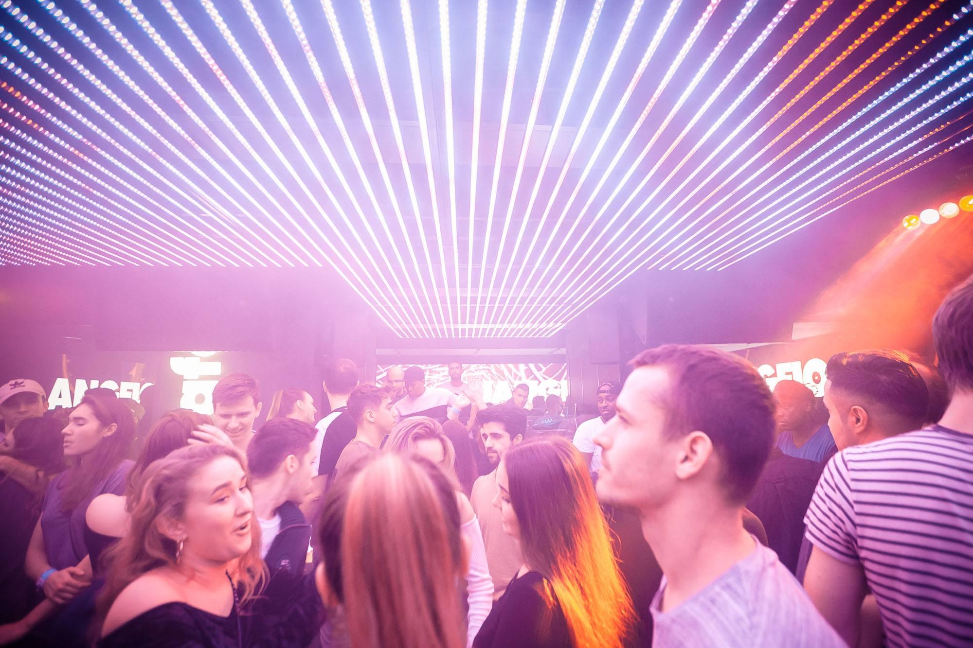 Crowded dance area in night club Trafo.
