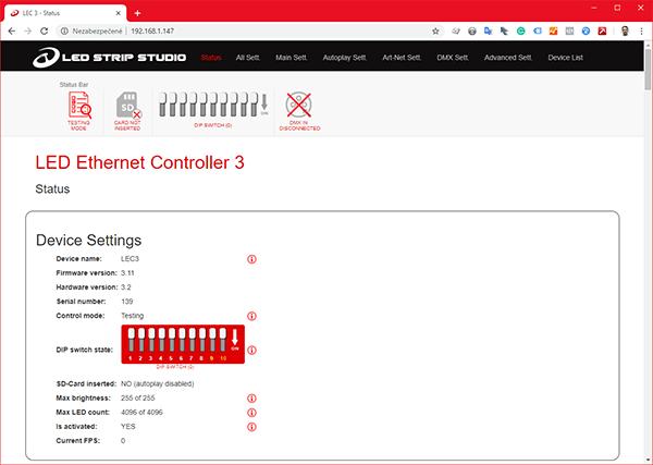 A web cofiguration tool printscreen