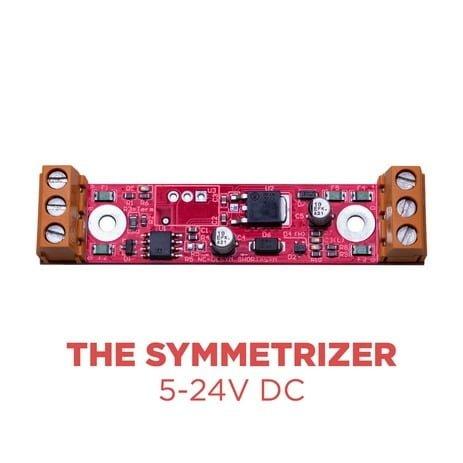 The symmetrizer Top View, 5-24V DC