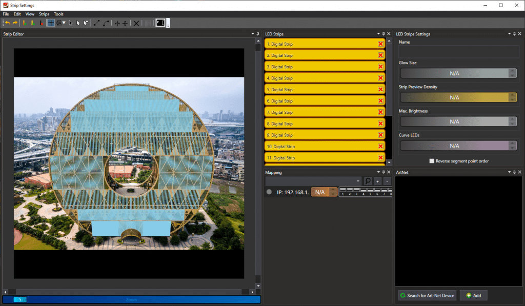 Mapping editor