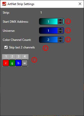 Art-Net color channels